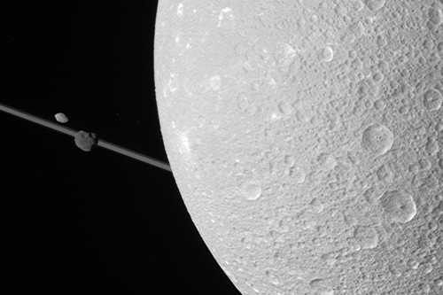 Dione, Epimetheus and Pandora (Cassini)