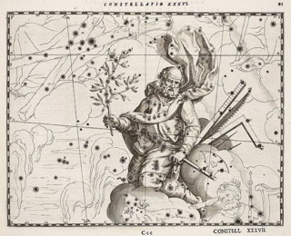 The constellation of St. Joseph (Orion) from Schiller's Coelum Stellatum Christianum