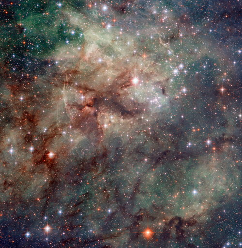 Hubble Space Telescope image of the Tarantula Nebula, 30 Doradus/NGC 2070