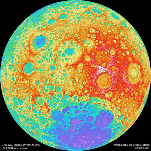 LROC topo map of the Moon's far side