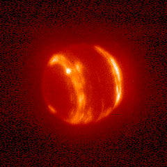 Neptune in infrared (Mike Brown, Keck telescope)