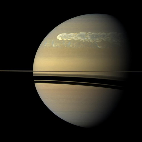 Storm in Saturn's northern hemisphere