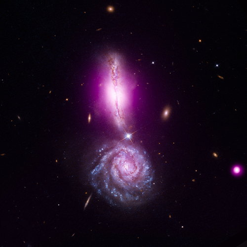 UGC 9618 / Arp 302 / VV 340 (Chandra/Hubble)