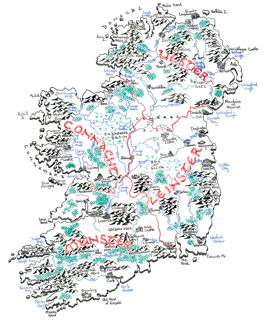 Fantasy map of Ireland