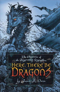 Book cover: Here, There Be Dragons