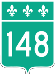 Route 148 sign