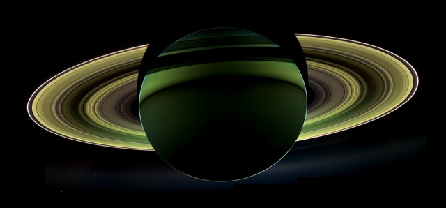 Backlit Saturn (NASA/JPL-Caltech/SSI)