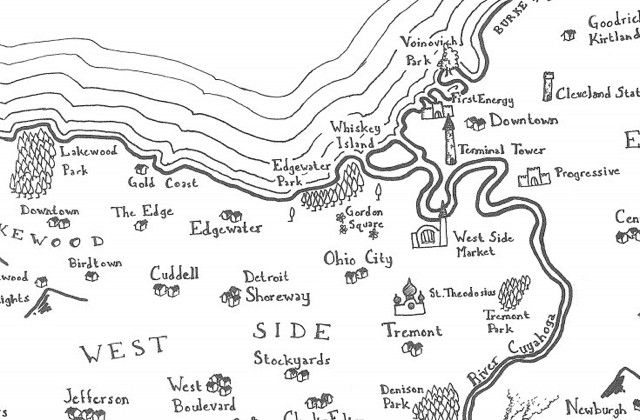 Fantasy map of Cleveland (Stentor Danielson)