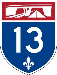 Autoroute 13 shield