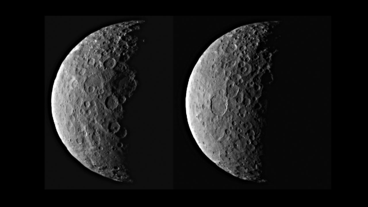 Ceres in Half Shadow