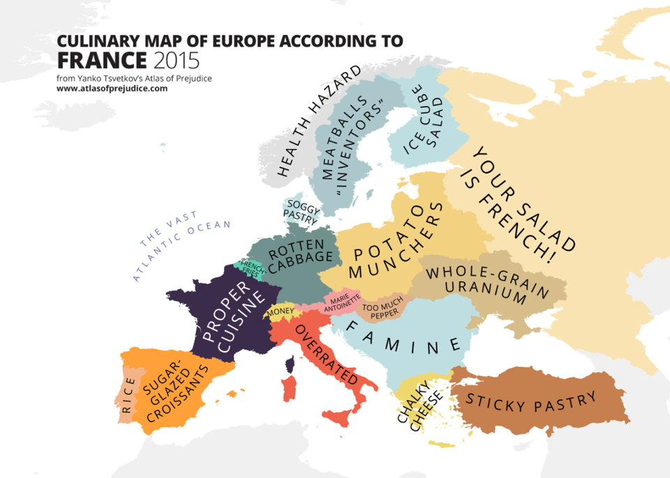 Culinary Map of Europe According to France (Yanko Tsvetkov)